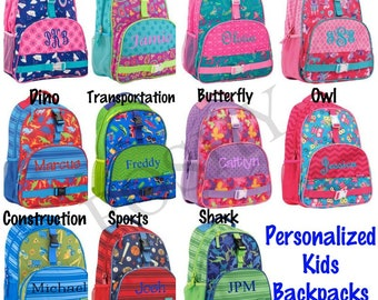 Monogrammed Kids Backpack  9ad0d2b695e8e