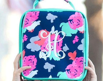 Personalized Kids Lunch Box / Monogrammed lunch box / Lunch Bag / Girls lunch Box / Amelia Print