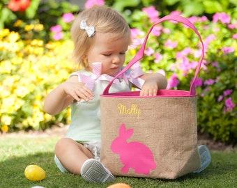 Easter Basket, Personalized Easter Basket, Easter bucket,  Easter basket, Monogram Easter Basket, Girls Basket, Pink basket