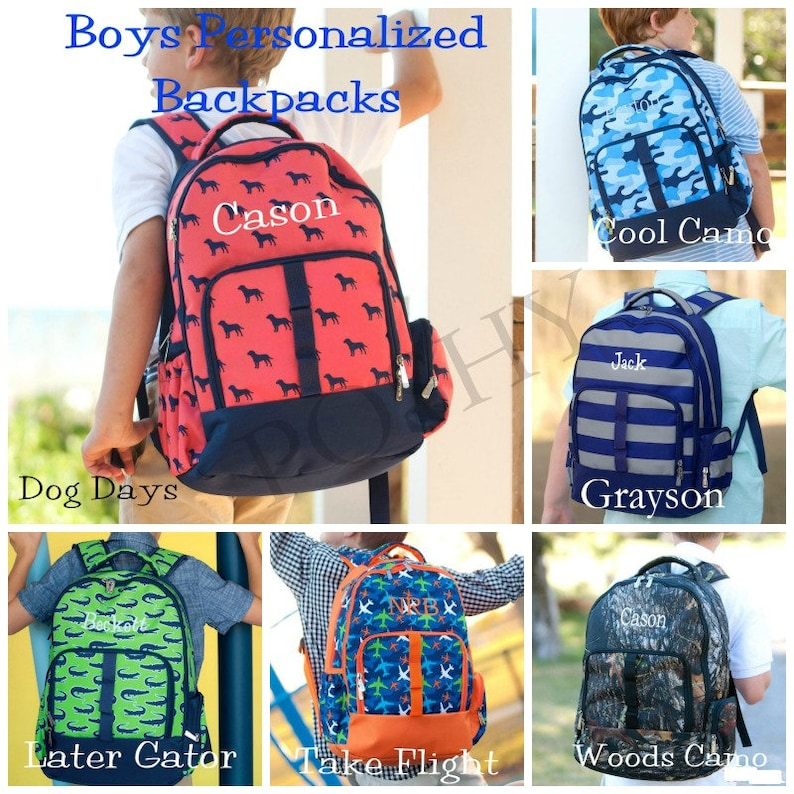 a33f2c5366 Boys Backpack Personalized Backpack Boys Personalized