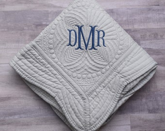 Monogrammed Baby Quilt, Personalized Baby Blanket, New Baby, Personalized Baby Quilt, Monogrammed Baby Blanket, Baby Boy Quilt, Blanket
