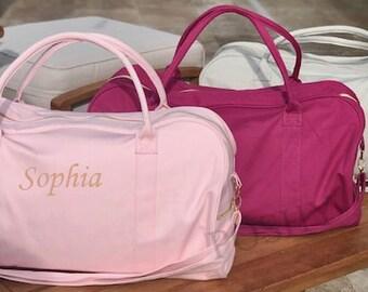 Duffle Bag, Personalized Duffle bag, Hospital bag, Monogrammed duffle, Baby bag, Gift for her, Kids Duffle, Dance bag