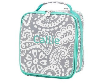 Personalized Kids Lunch Box / Monogrammed lunch box / Lunch Bag / Girls lunch Box / Parker Paisley