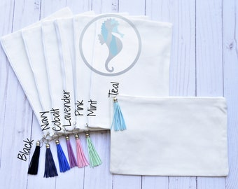 Cosmetic Case, Embroidery Blank, Vinyl Blank, Wholesale blank bag, Cosmetic Case with Tassel, Bulk