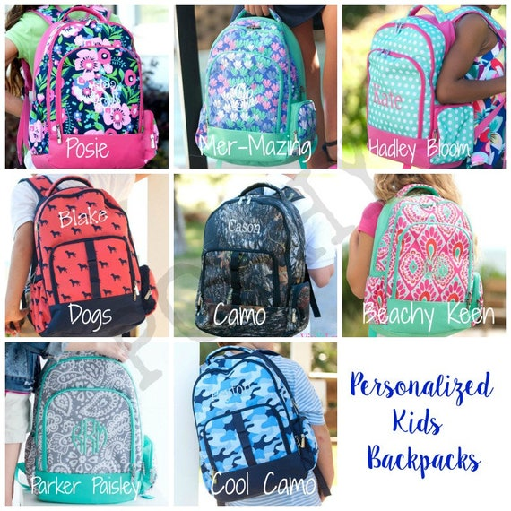 Monogrammed Kids Backpack Personalized Backpack Back to  d0377be8c8fd6