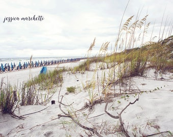 Watercolor Florida art, seaside, highway 30a, landscape photograph, Ocean photography, beach decor, 30a, teal turquoise wall art, sand dune