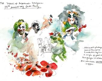 Sisters of Perpetual Indulgence 4 original illustrations