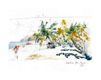 Costa Rica, Jaco beach,  signed print