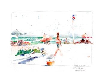 Santa Teresa, Costa Rica, signed print