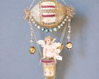 victorian ornament hot air balloon ornament victorian christmas tree ornaments victorian christmas ornament the cupids express