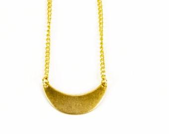 Brass Scoop Necklace