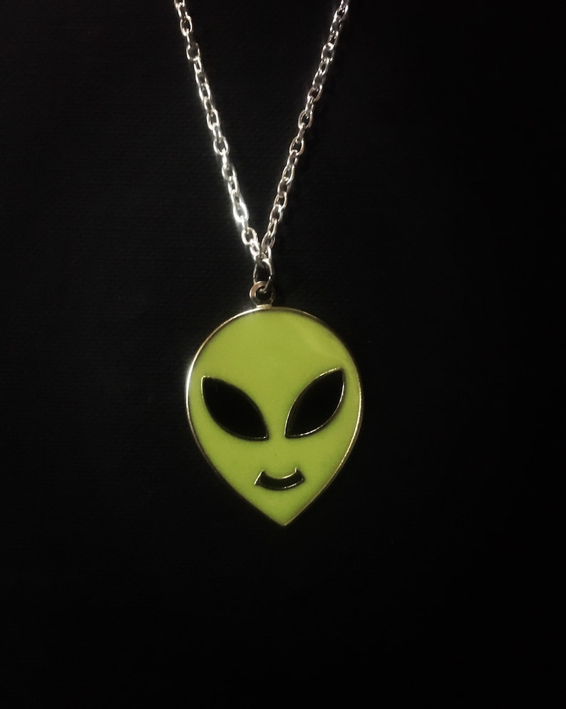 Alien Head Necklace