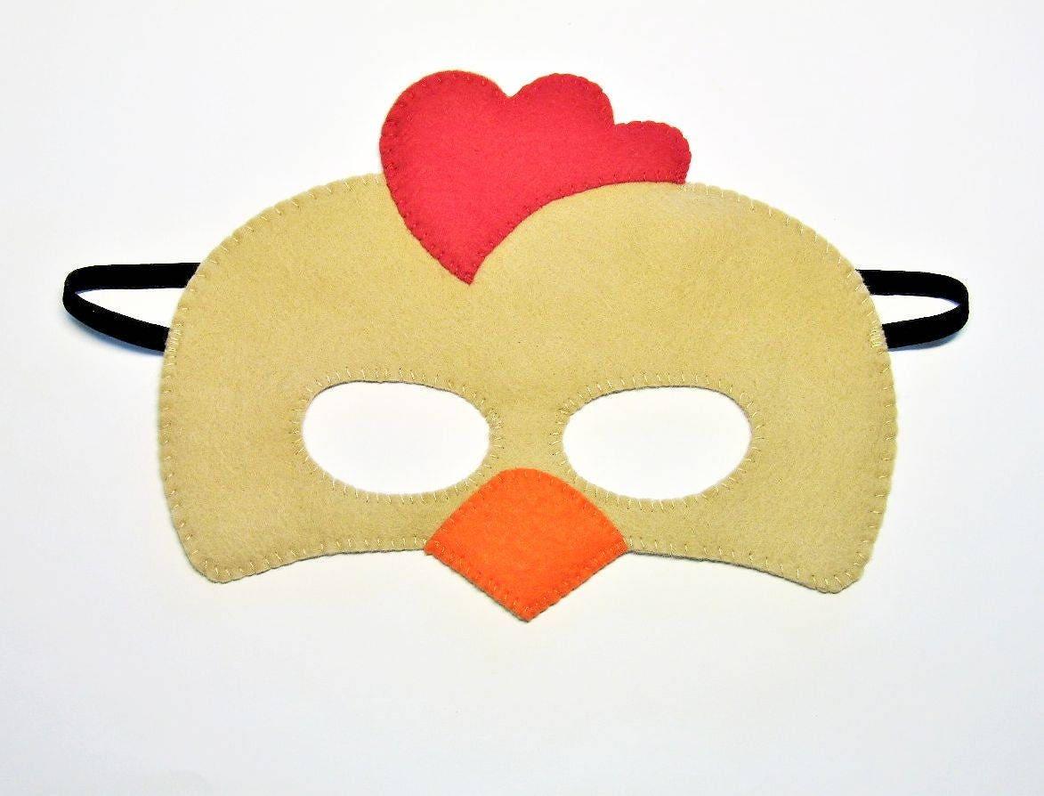 Traje de máscara de fieltro marrón granja animal pollo gallina | Etsy