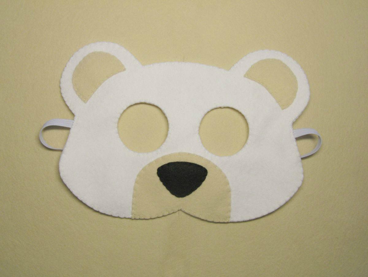 Máscara de oso blanco a mano hielo oso polar para adolescentes | Etsy