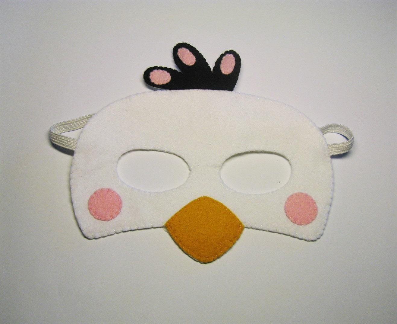 Enojado aves traje de pájaro rosa Matilda máscara de fieltro   Etsy