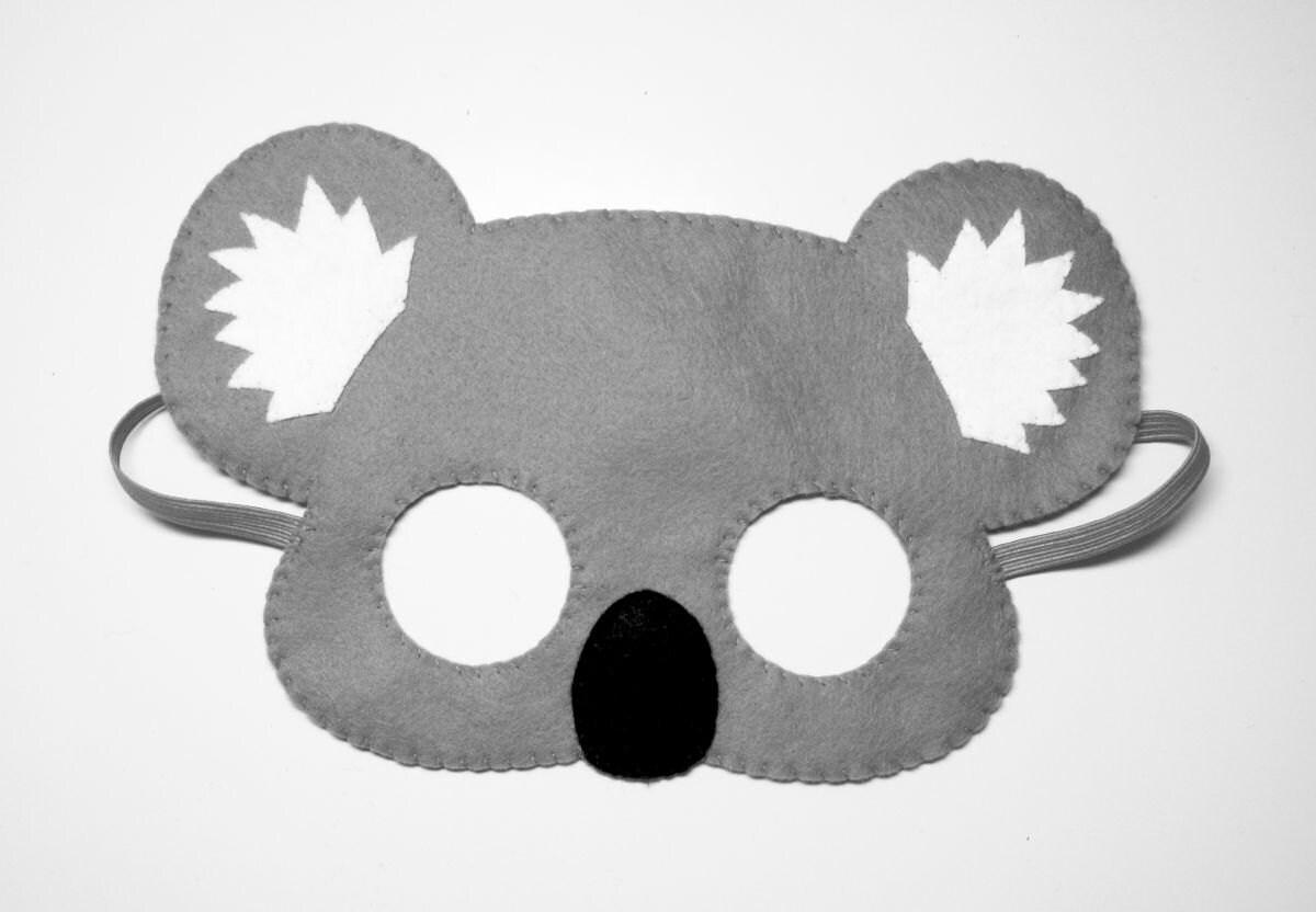 fffabed2e8d Koala Beer vilt masker grijs handgemaakte Australië bos dier | Etsy