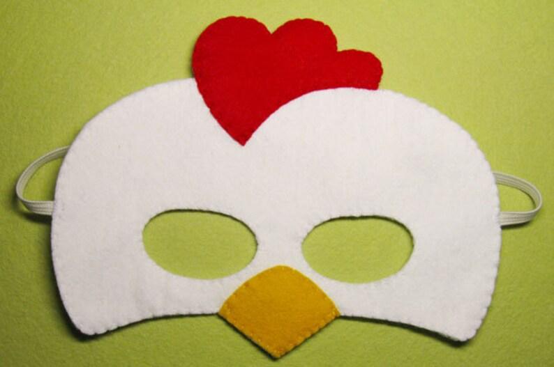 Para De Máscara Disfraz RojoEtsy Cabrito Blanco Animal Pollo XOZ80wPknN