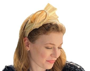 gold dressy headband/ bridal headband/ metallic headband/ ladies silver headband/ chic headband/ dressy hairband/ special occasion band UK