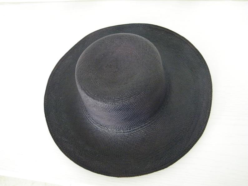 835942fcbc289c Navy straw hat for Women / wide brim Panama hat/ elegant sun | Etsy