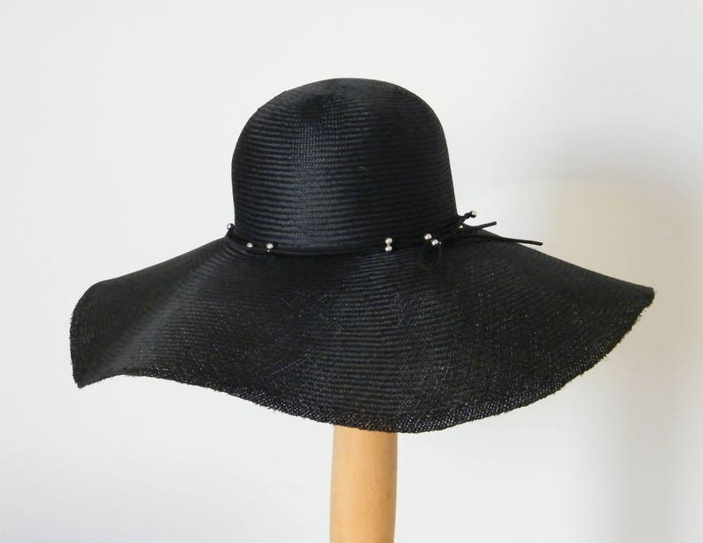 56cc467c33 Sun hat for large head  black sun hat   wide brim sun hat