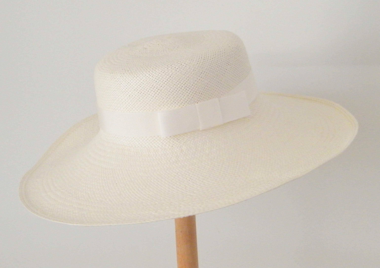 a94eb824a Melania hat/ white summer hat for women/ wide brim summer hat/ elegant  straw hat/ tea party hat/ wide brim wedding hat
