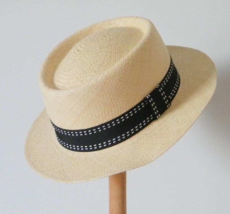 d04841bf389602 Genuine Panama hat summer Fedora hat quality straw hat | Etsy