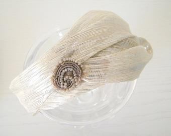 chic silver headband for women/ elegant headband/ occasion headband/ dressy headband for ladies/ special occasion headband UK