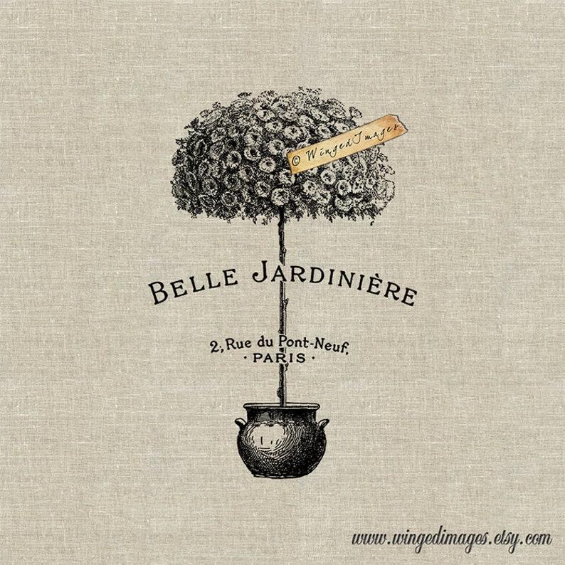 Belle Jardiniere Beautiful Garden Instant Download Digital image 0