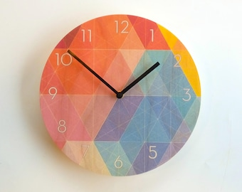 Objectify Nazca Wall Clock with Numerals - Medium Size