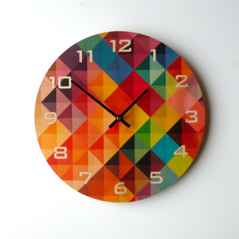 Objectify Grid2 Wall Clock With Numerals image 0