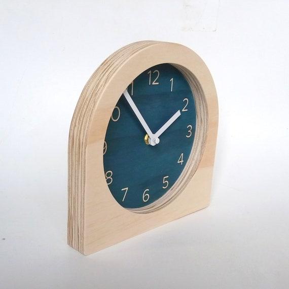 Objectify Dark Blue Classic Desk Clock