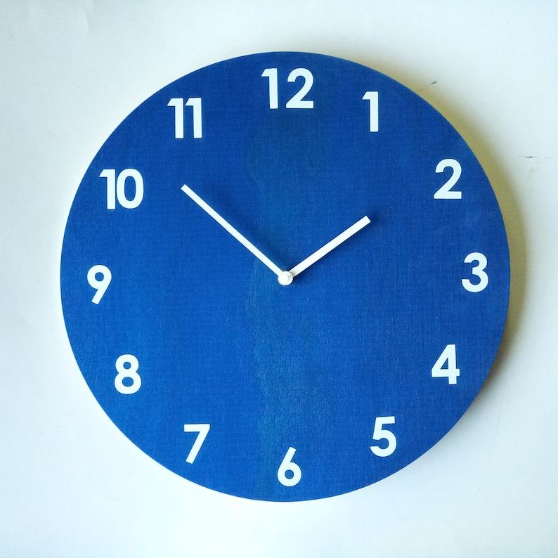 Objectify Glow in the Dark Royal Blue Wall Clock