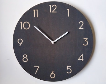 Objectify Charcoal Wall Clock With Neutra Numerals