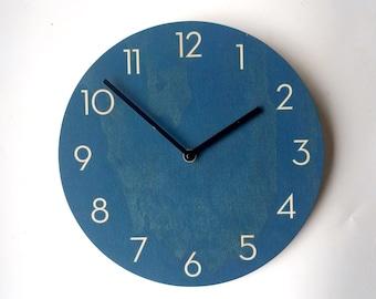 Objectify Dark Blue Wall Clock With Neutra Numerals