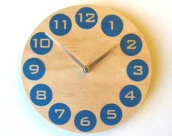 Objectify Blue Dot Wall Clock