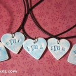 One 1-inch personalized heart pendant necklace