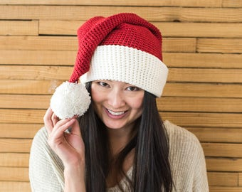 Crochet Pattern ~ Santa Hat in 3 Sizes ~ Crochet Pattern