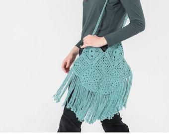Crochet Pattern-- Festival Bag --Crochet Pattern