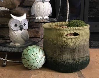 Knitting Pattern ~ Pretty Utility Basket ~ Knitting Pattern