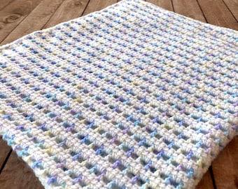 Crochet Pattern ~ Sherbet Baby Blanket ~ Crochet Pattern