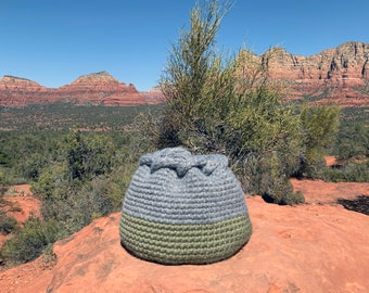 Crochet Pattern-- Vista Woven Basket --Crochet Pattern