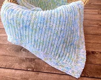 Knitting Pattern ~ Squishy Baby Blanket ~ Knitting Pattern