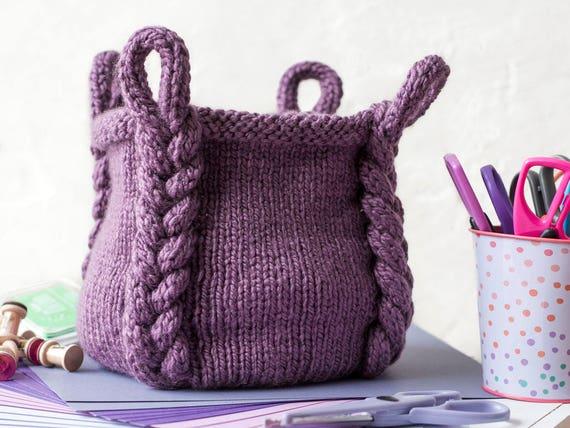 Knitting Pattern Entangle Basket Knitting Pattern Etsy