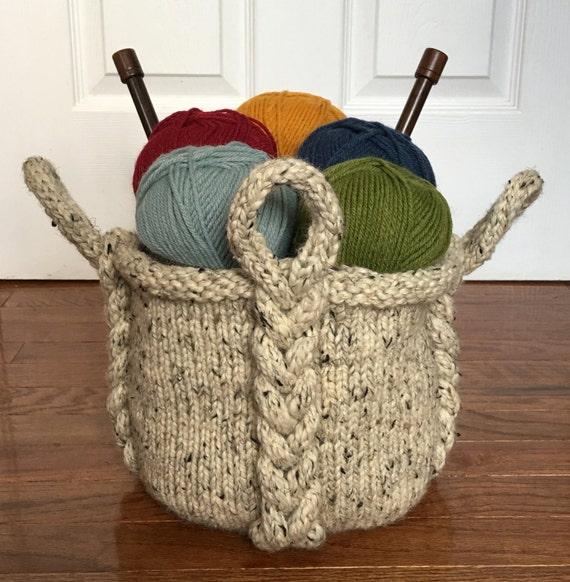 Knitting Pattern Entangle Basket Knitting Pattern