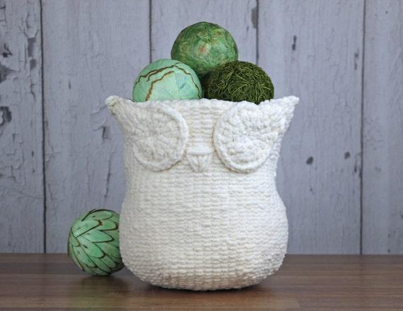 Knitting Pattern Knit Owl Basket Knitting Pattern Etsy
