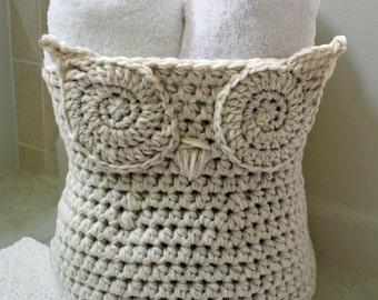 Crochet Pattern-- The Original Owl Basket --Crochet Pattern
