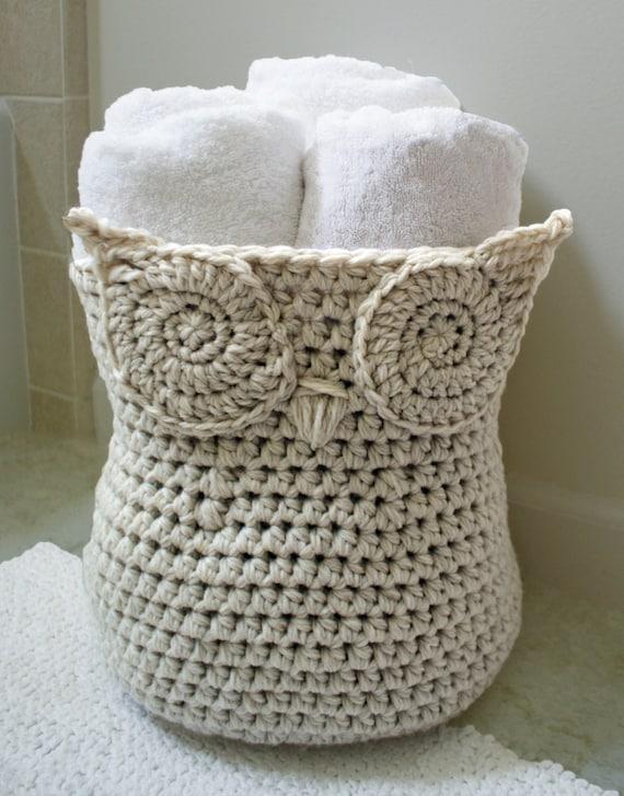 Crochet Pattern The Original Owl Basket Crochet Pattern