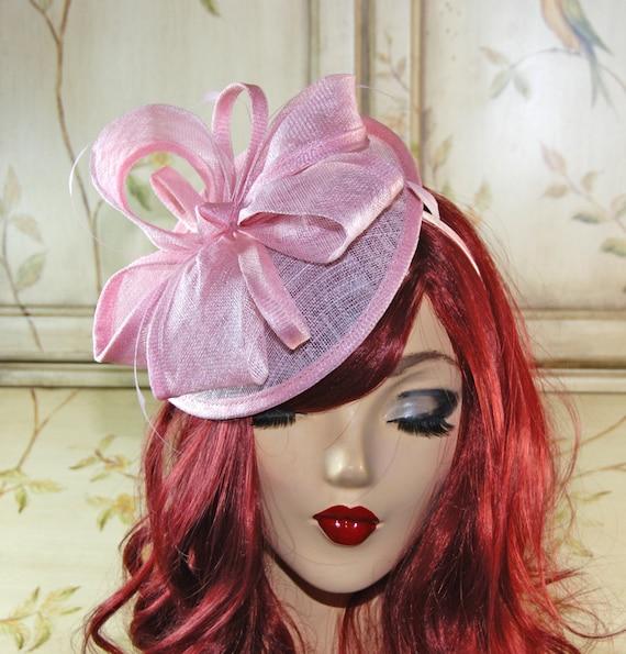 Pink Fascinator Hat Pink Tea Party Hat Pink Wedding  52b167f2c84