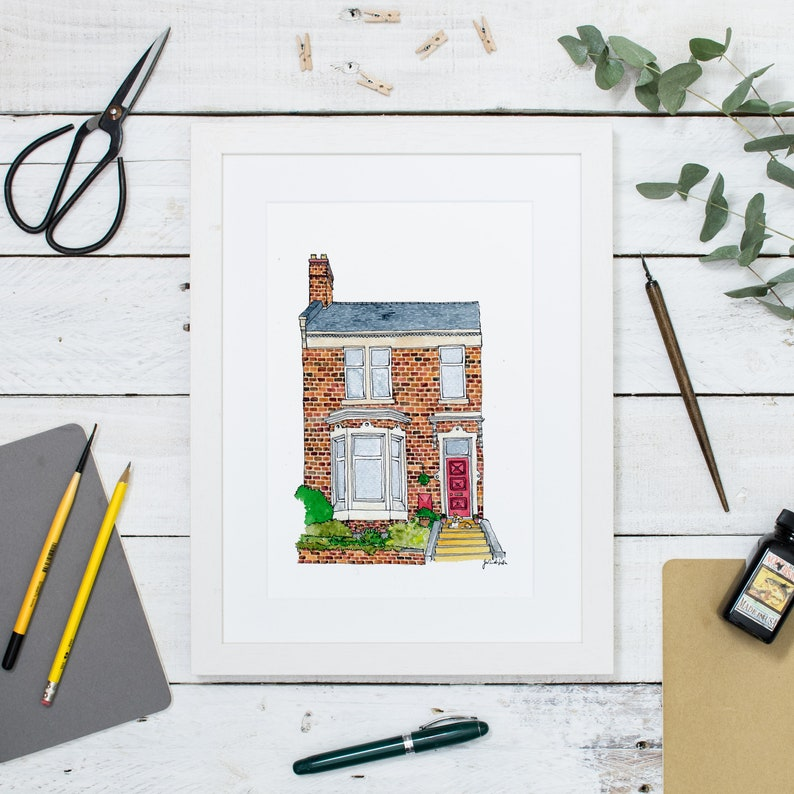 Custom House Portrait: Our First Home an illustrated home image 0