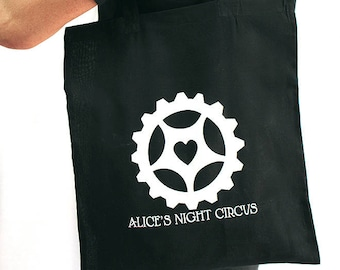 Alice's Night Circus Tote Bag Steampunk Music Cog Heart